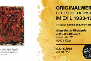 Originalwerke deutscher Künstler im Exil 1933-1945